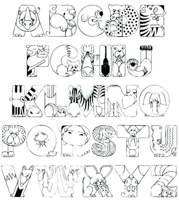 615x705 Alphabet Coloring Pages Preschool