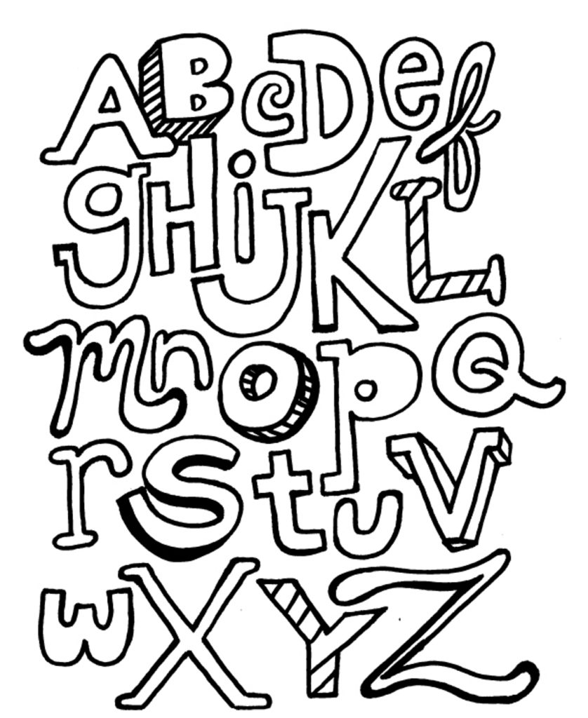 838x1024 Fabulous Stunning Alphabet Letters Coloring Pages For Kids