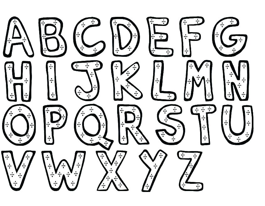 846x660 Free Alphabet Coloring Pages Coloring Alphabets Letters Coloring