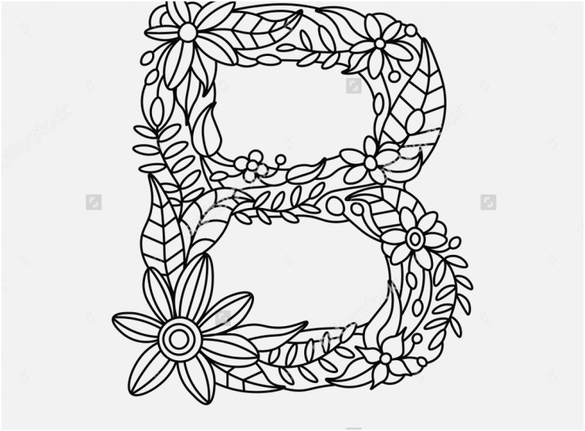 827x609 Letter Coloring Pages For Adults Graphic Ornamental Alphabet