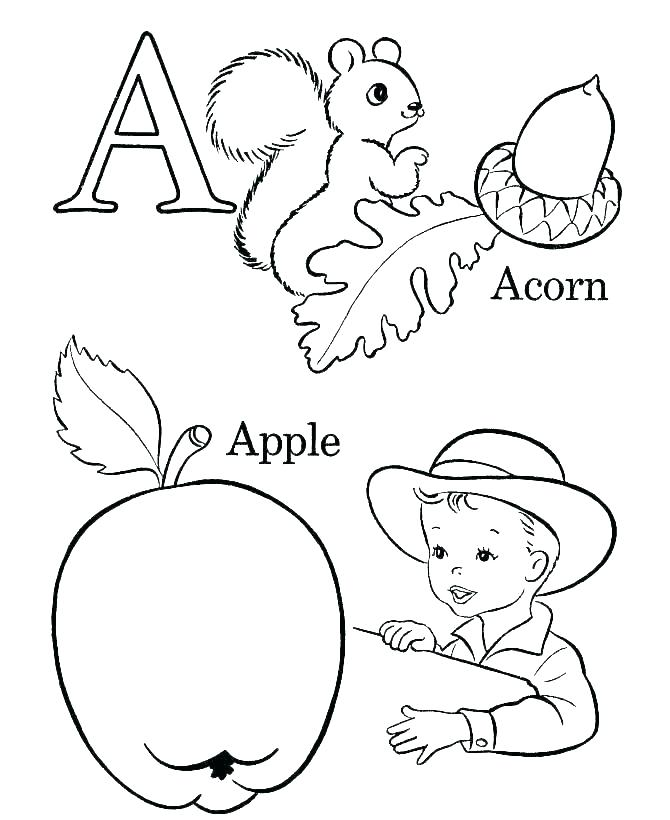 Alphabet Letters Coloring Pages Printable