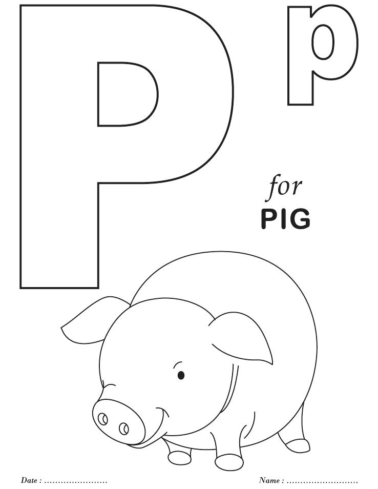 Alphabet Letters Coloring Pages Printable At Getdrawings Free