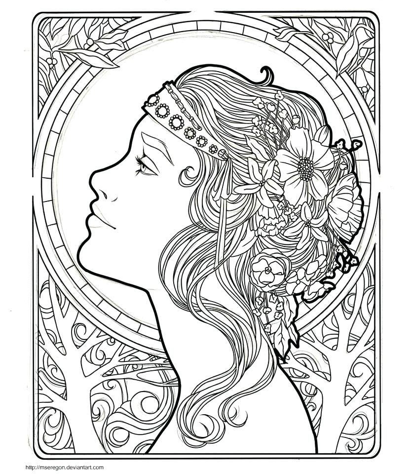 Alphonse Mucha Coloring Pages At GetDrawings Free Download