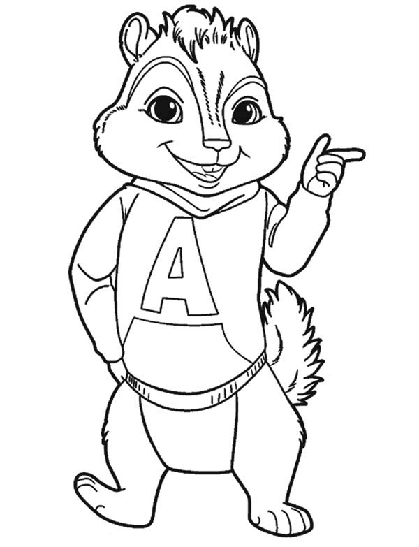 Alvin Coloring Pages At Getdrawings Com Free For Personal Use
