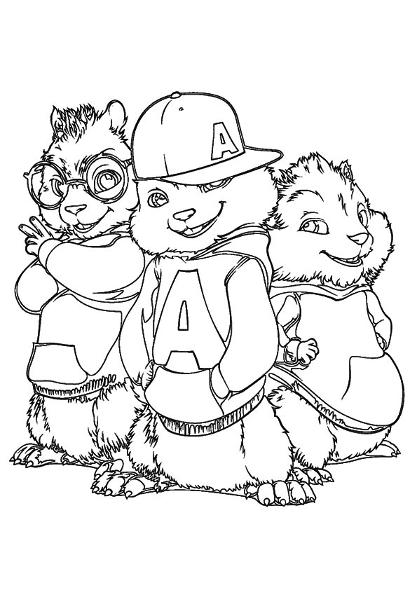 The best free Alvin coloring page images. Download from 109 ...