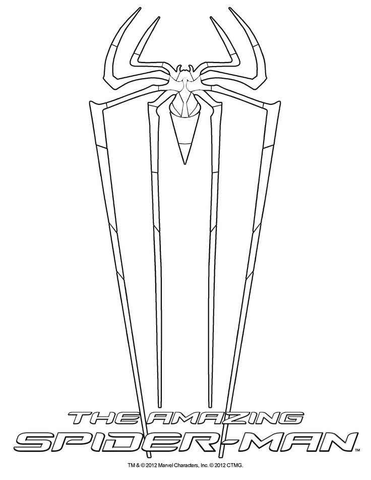 736x952 Amazing Spiderman Coloring Pages The Amazing Spider Man Coloring