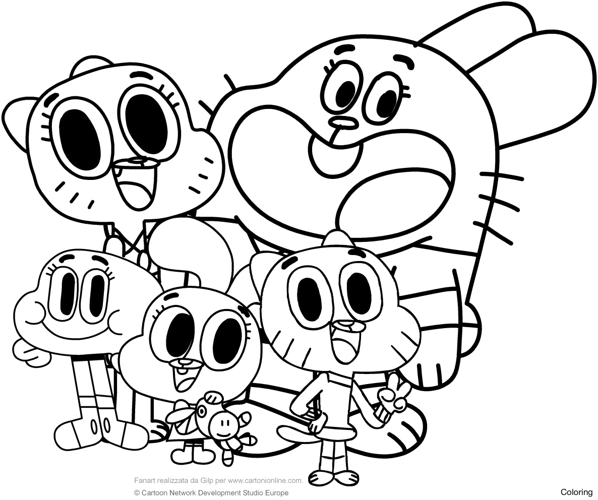 Amazing World Of Gumball Coloring Pages at GetDrawings ...