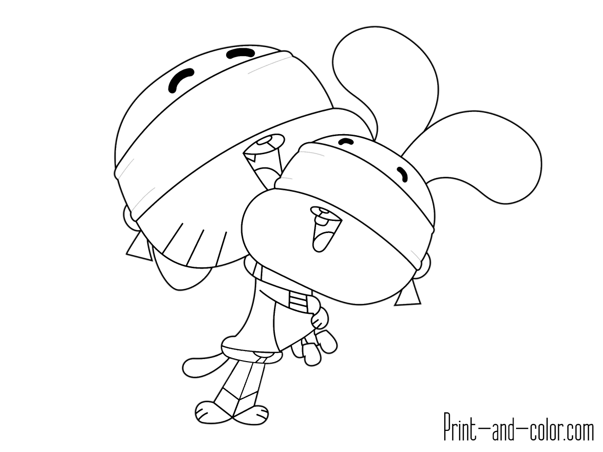 1200x900 Gumball Coloring Pages Games