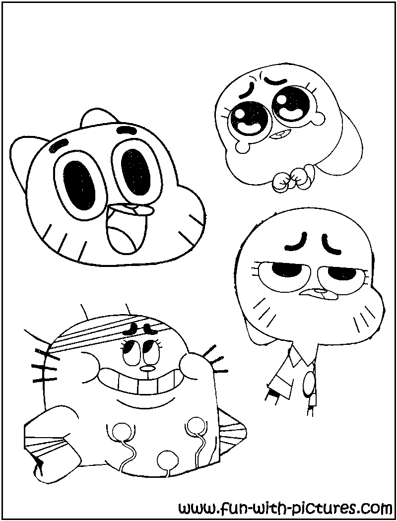 800x1050 Amazing World Gumball Coloring Pages