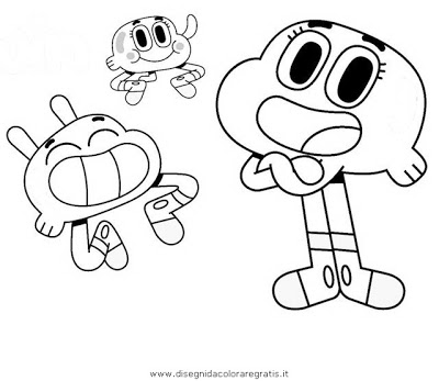 400x347 The Amazing World Of Gumball Coloring Pages Darwin