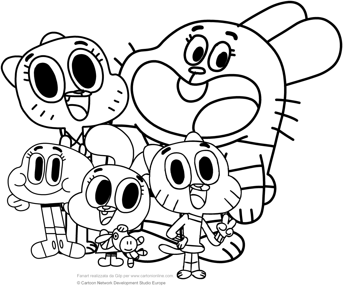1186x992 Amazing World Of Gumball Coloring Pages To Print Printable Free