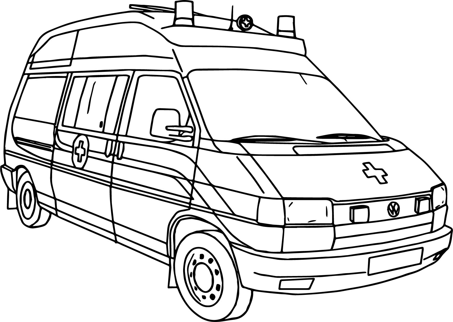 Ambulance Coloring Pages At Getdrawings Com Free For