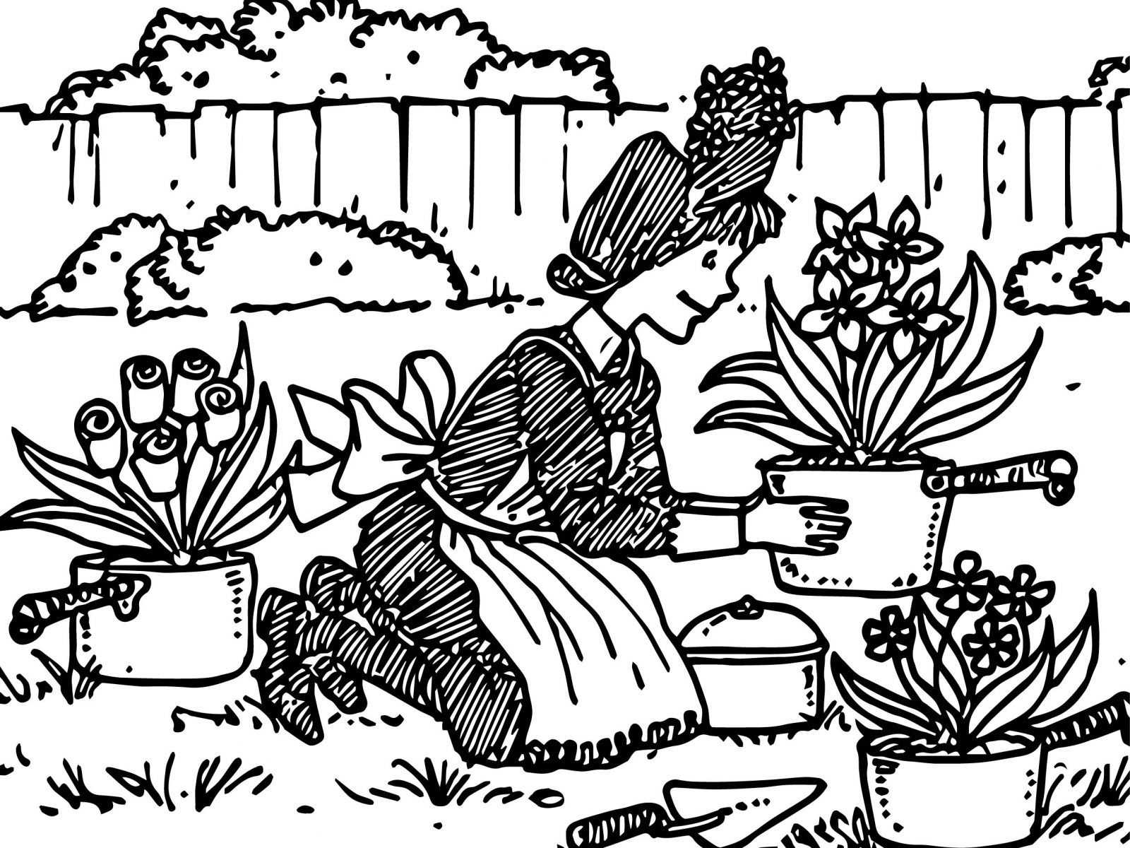 1600x1200 Appealing Amelia Bedelia Coloring Printables Of Flower Collage
