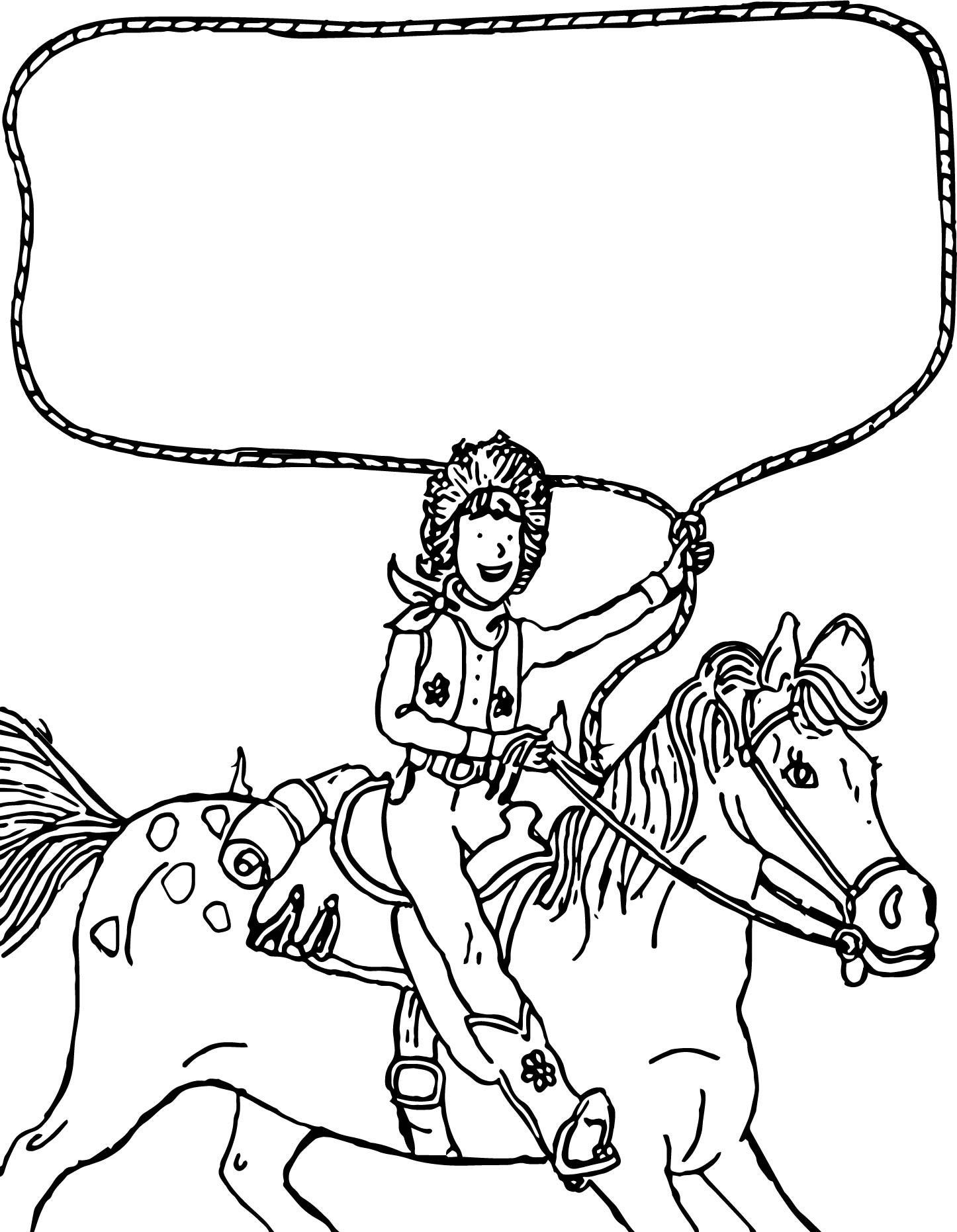 1446x1862 Appealing Go West Amelia Bedelia On The Horse Coloring Page