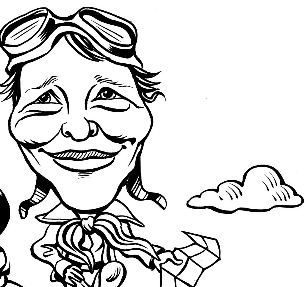 1035x964 Amelia Earhart Coloring Pages