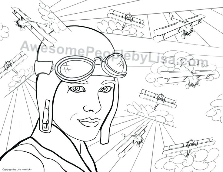 736x569 Amelia Earhart Coloring Page Amelia Earhart Coloring Pages
