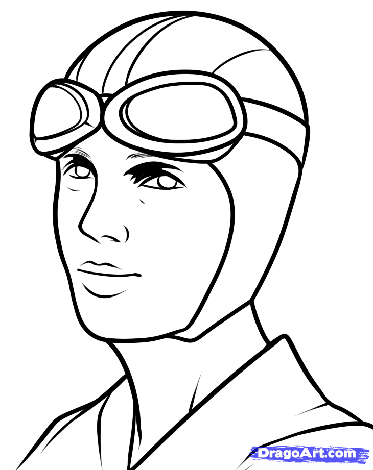730x921 How To Draw Amelia Earhart