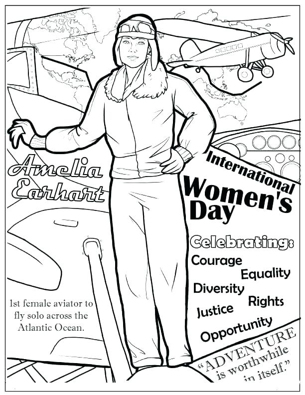 612x792 Amelia Earhart Coloring Page Coloring Page S Plane Coloring Page
