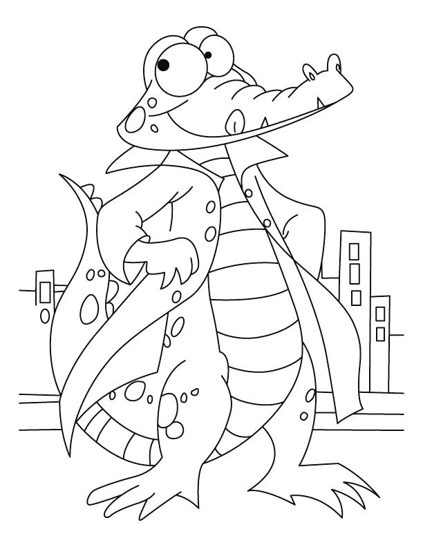 612x792 Alligator Coloring Page Printable Coloring Page Of An Alligator