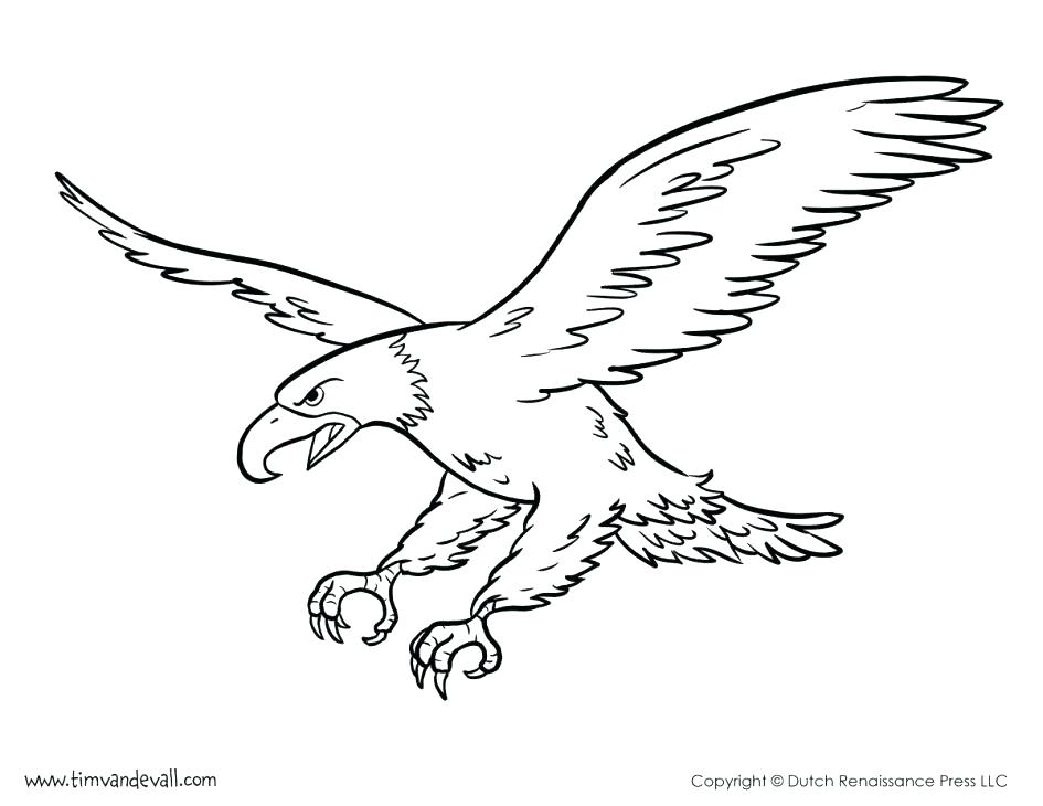 945x730 Bald Eagle Coloring Page