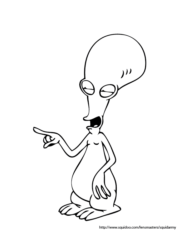 612x792 American Dad Coloring Pages