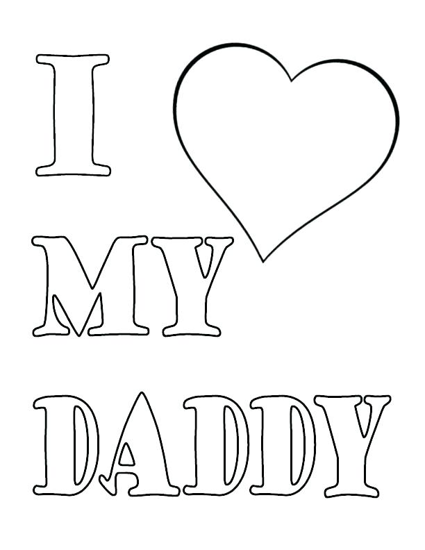 612x792 Coloring Pages For Dad I Love My Mommy Coloring Pages I Love My