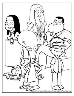 248x320 American Dad Coloring Pages Family Potrait Coloring Pages