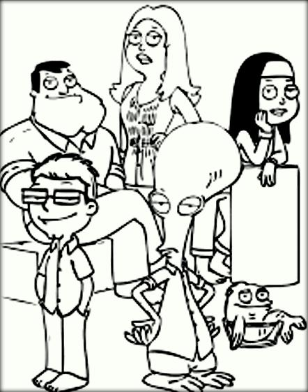 442x562 American Dad Coloring Pages