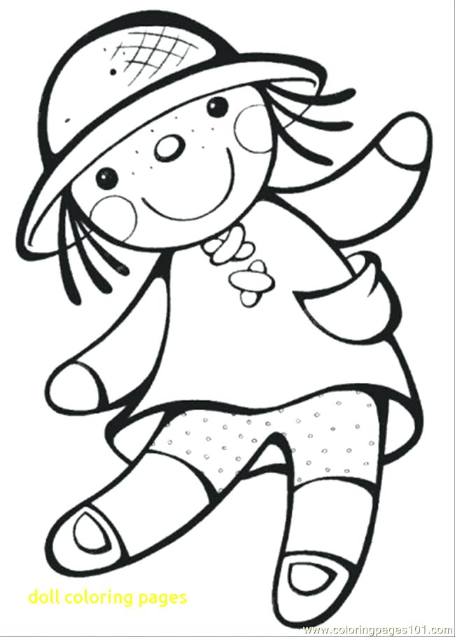 650x910 Doll Coloring Pages Girl Doll Coloring Page Baby Doll Coloring