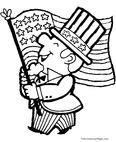 400x490 American Flag Coloring Pages