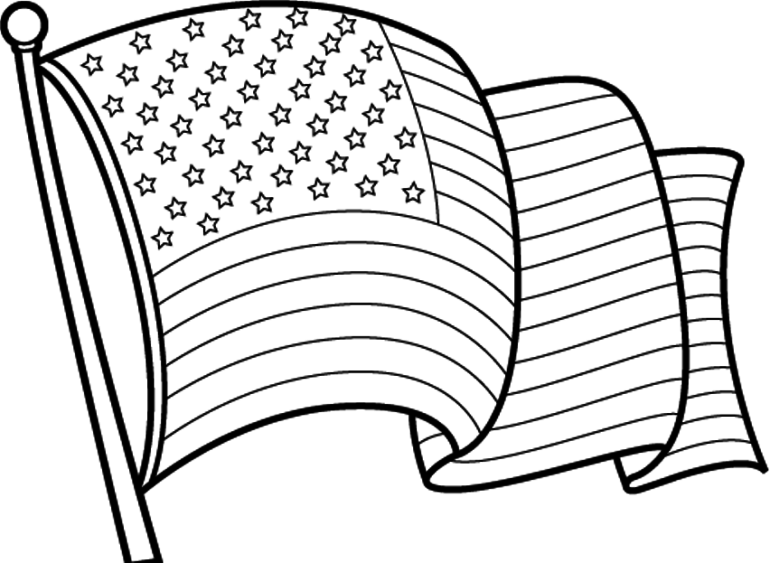 American Flag Coloring Page At Getdrawings Com Free For Personal