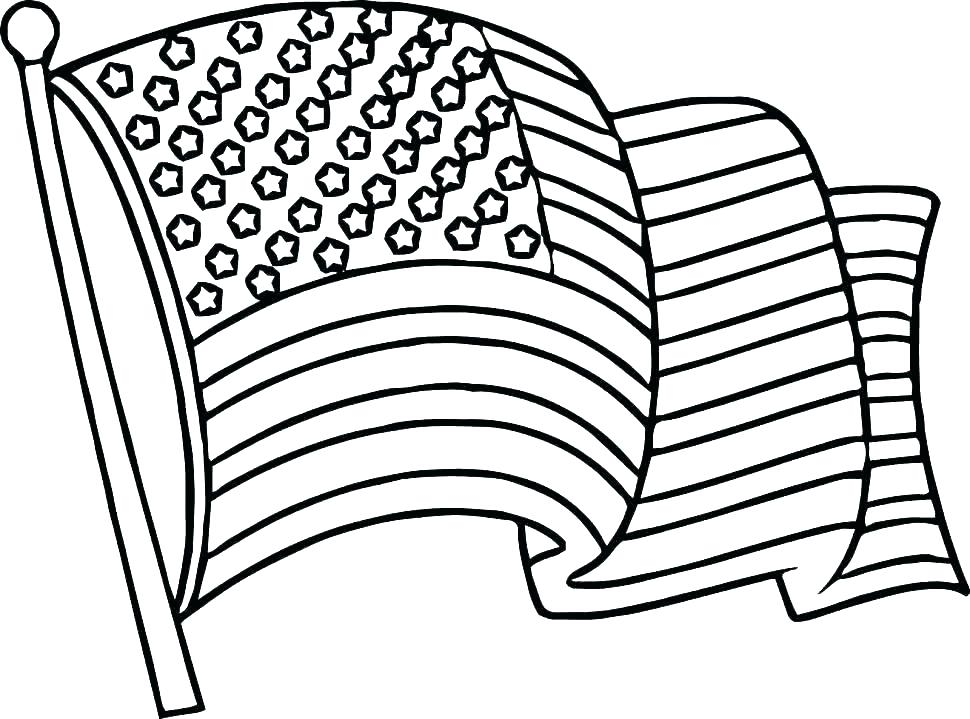 970x719 Coloring Page American Flag Flag Coloring Pages Printable Color