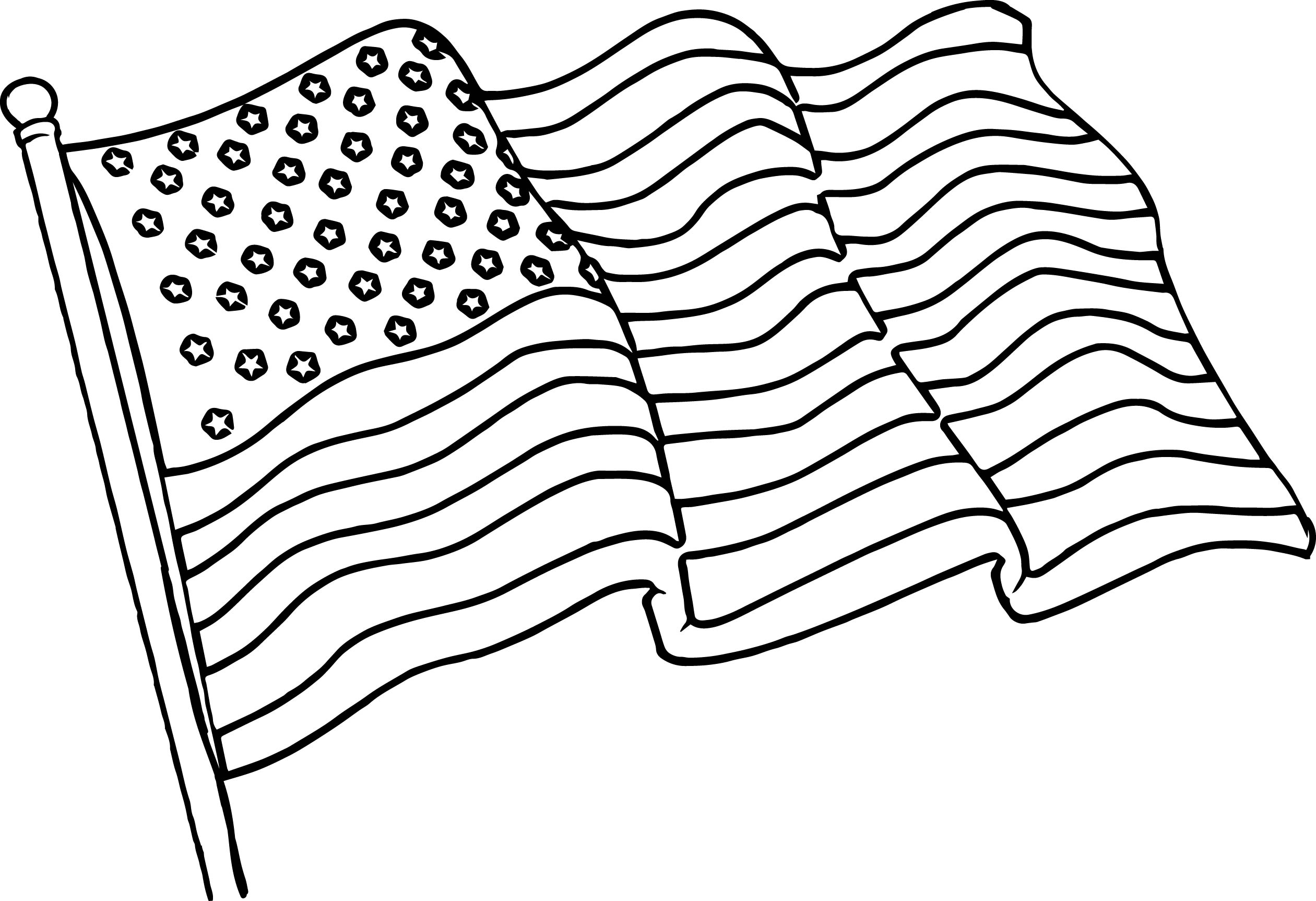 2521x1725 American Flag Coloring Page Printable Coloring Pages