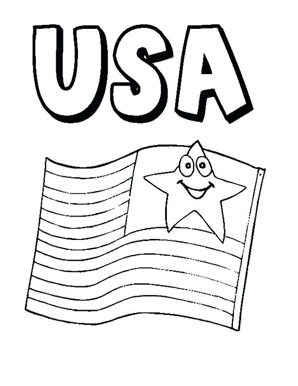 600x777 Flag On Independence Day Coloring Page Download Print South