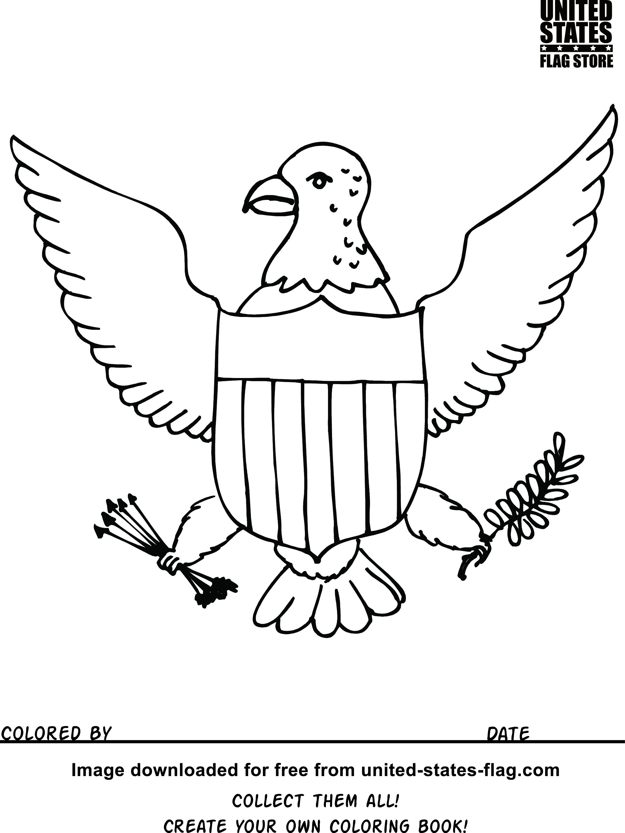 2142x2854 Free American Flag Coloring Pages Download