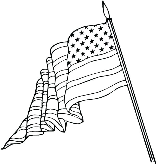600x630 American Flag Coloring Pages