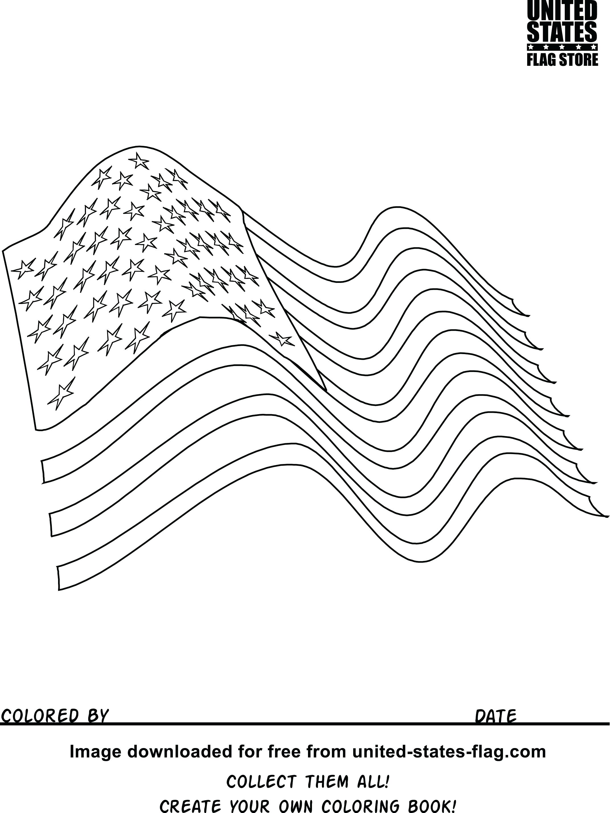 2143x2854 Coloring Pages American Flag Coloring Page Waving Pdf American