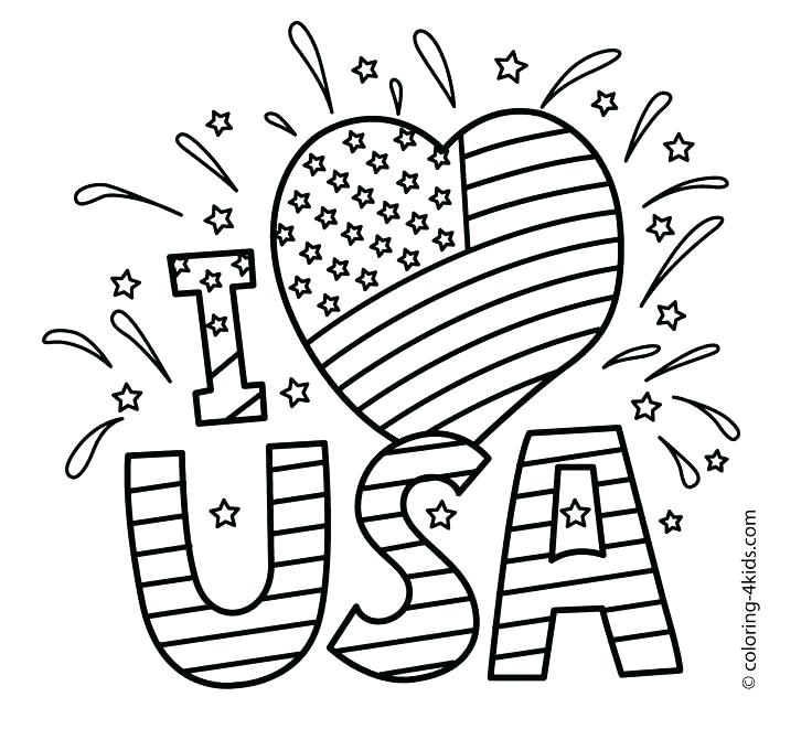 736x661 American Flag Coloring Page Online Flag Of Flag
