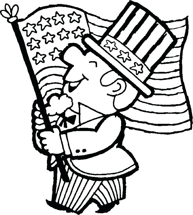 666x745 Printable Flag Coloring Page Line Drawing An Flag To African