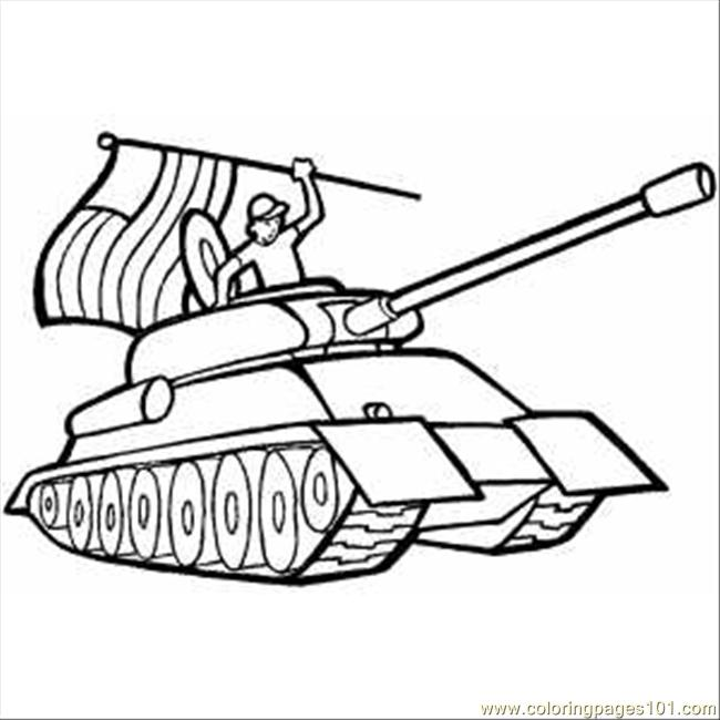 650x650 Printable Soldier In Tank With Usa Flag Coloring Pages