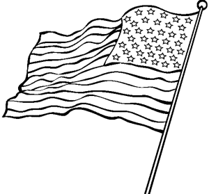 300x279 Realistic American Flag Coloring Page Kids Colouring Pages