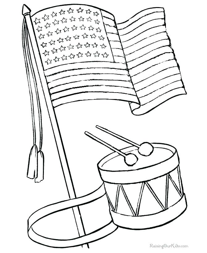 670x820 Us Flag Coloring Sheet Flag Color Page Plus History Coloring Page