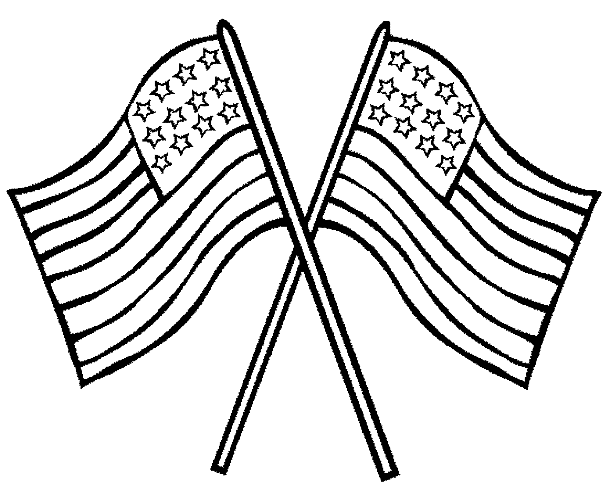 2000x1623 American Flag Coloring Pages For Preschool