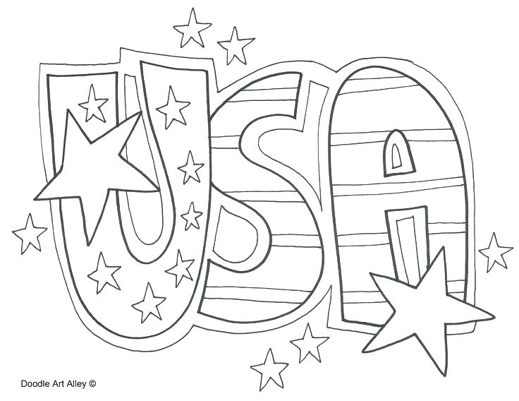 736x568 American Flag Coloring Page Crayola For Kindergarten