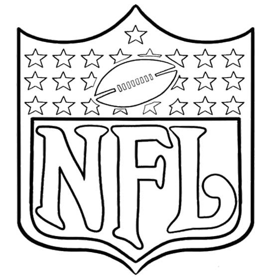 540x557 Arms Of Nfl Football Coloring Page Kids Coloring Pages