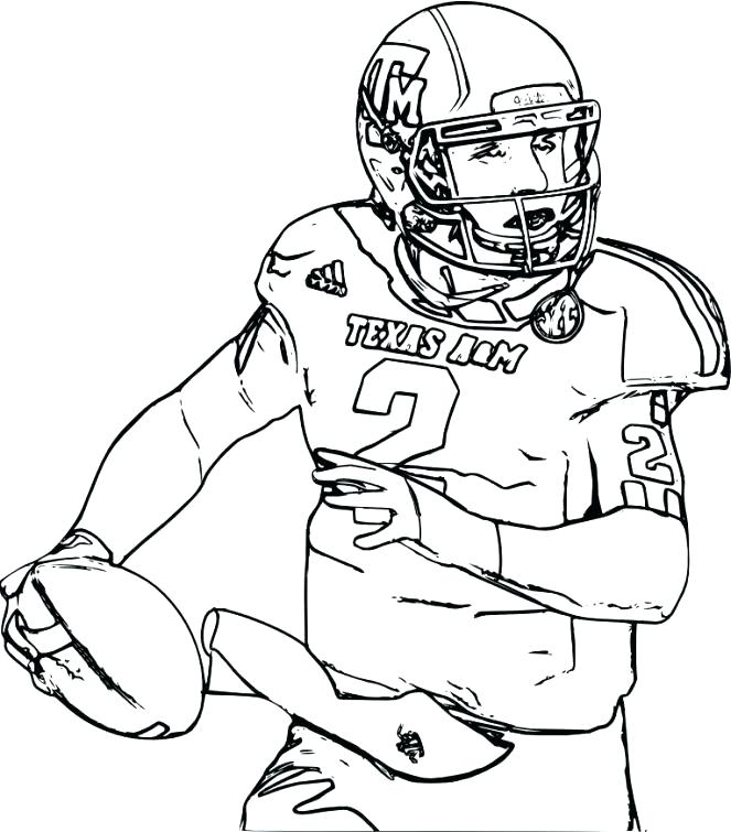 663x755 Coloring Pages And Coloring Books Football Coloring Pages