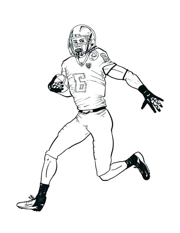 600x776 Football Player Coloring Sheet Boy Playing Football Coloring Page