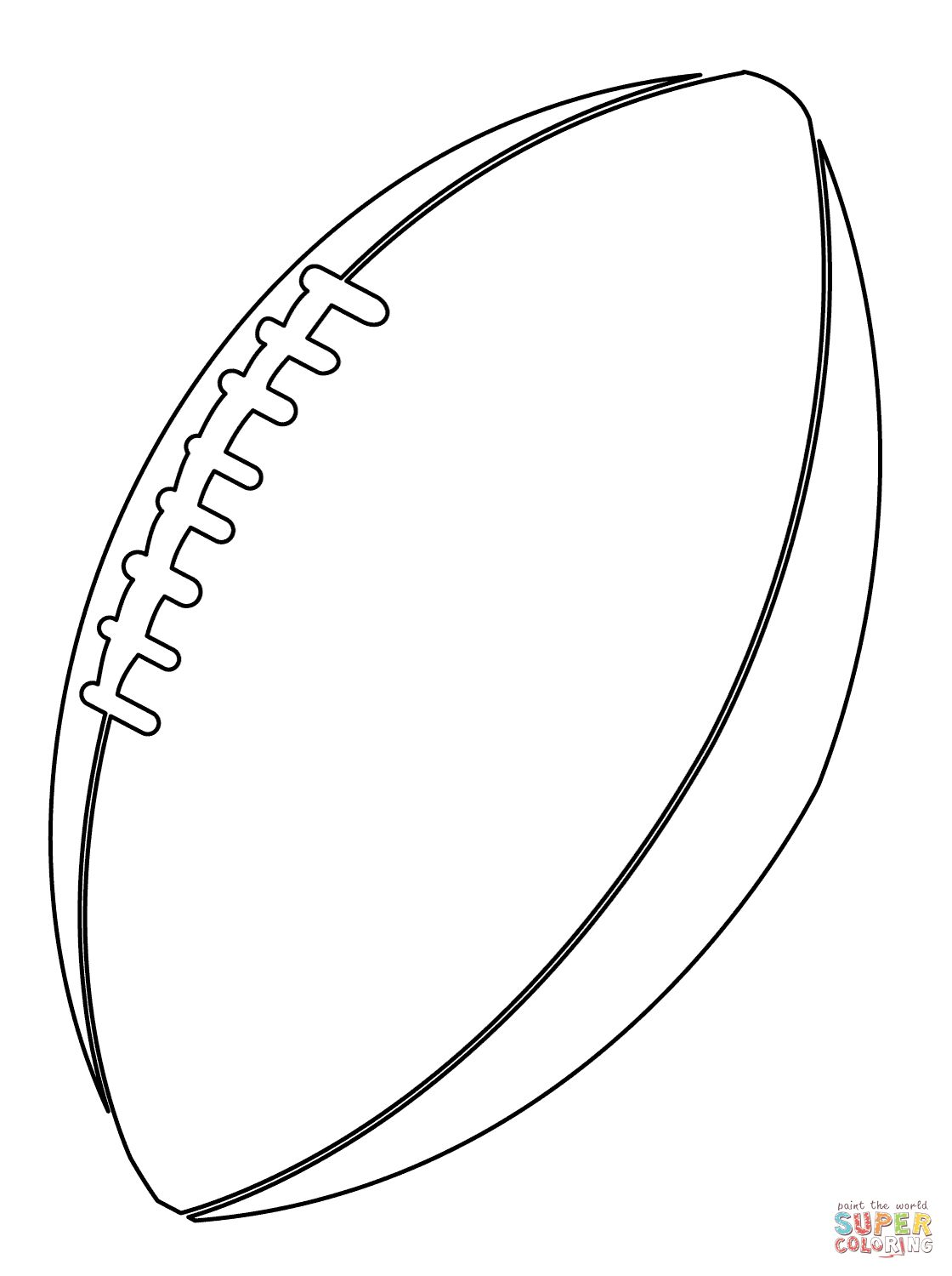 1120x1500 American Football Ball Coloring Page For Football Coloring Pages