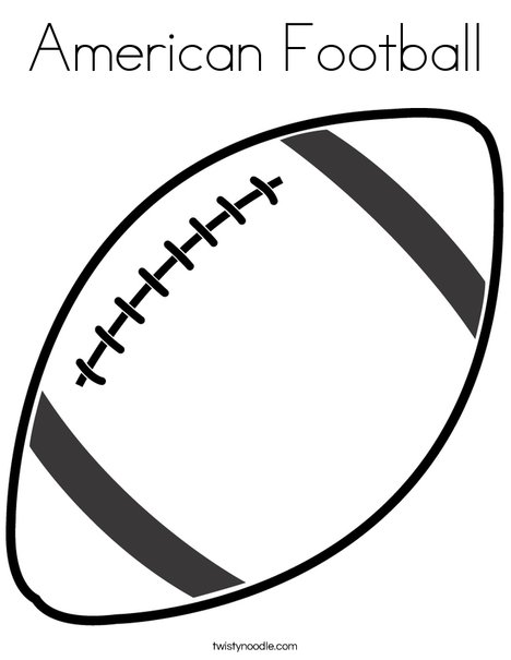 468x605 American Football Coloring Page
