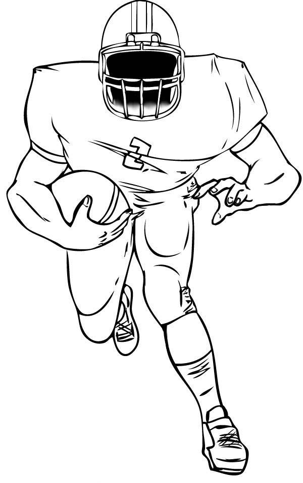 600x955 American Football Coloring Page Sewing Pertaining